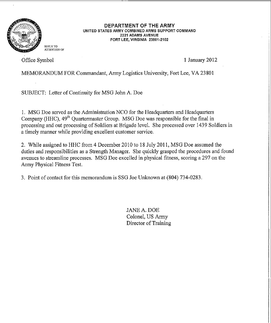 40+ Army Memorandum Templates   Word Excel Templates