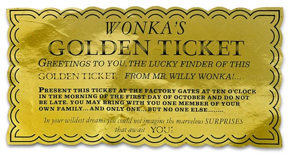 photo regarding Printable Golden Tickets identified as 6+ Golden Ticket Templates - Phrase Excel Templates
