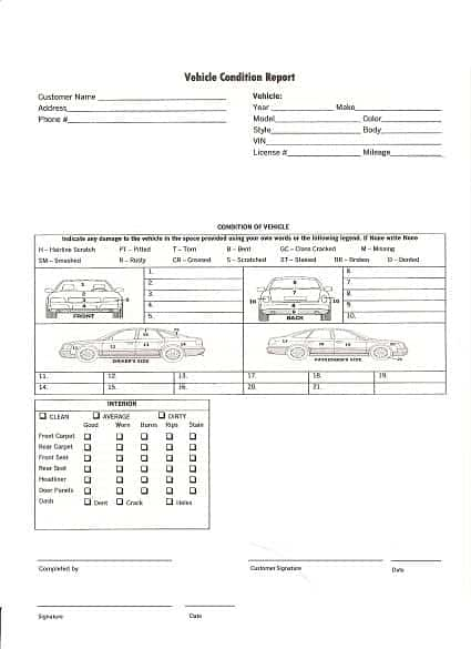 Vehicle-Condition-Report-598 Vehicle Expense Report on vehicle inventory report, vehicle damage report, vehicle incident report, vehicle accident report,