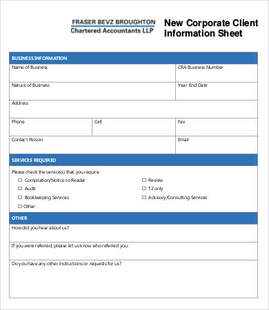 Contact Info Sheet Template from www.wordexcelsample.com