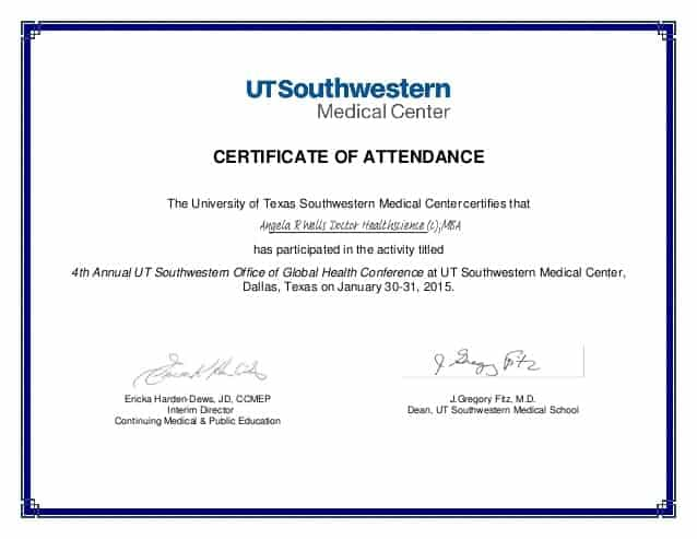 Certificate Of Attendance Template Free from www.wordexcelsample.com