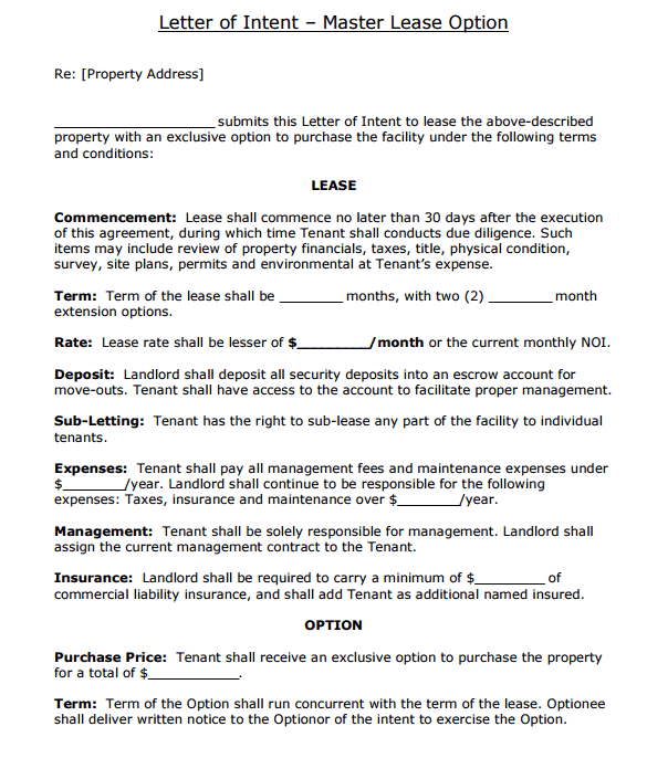 Letter Of Intent To Move Out from www.wordexcelsample.com