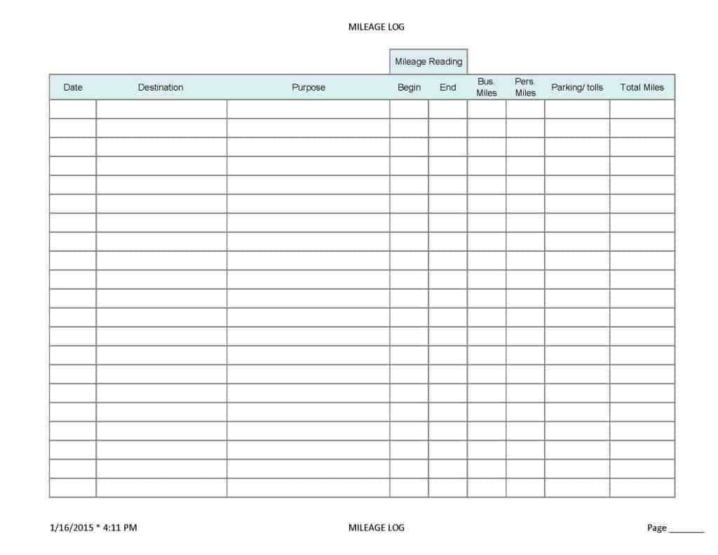 6+ Mileage Form Templates - Word Excel Templates