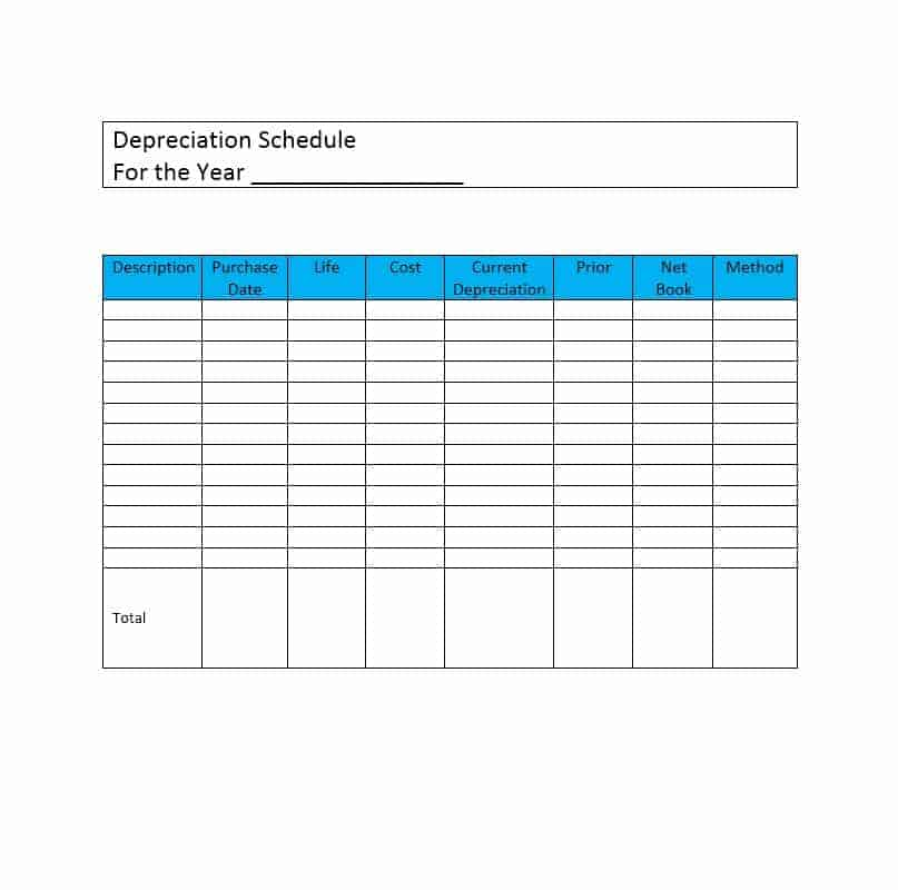 13+ Depreciation Schedule Templates Free - Word Excel ...