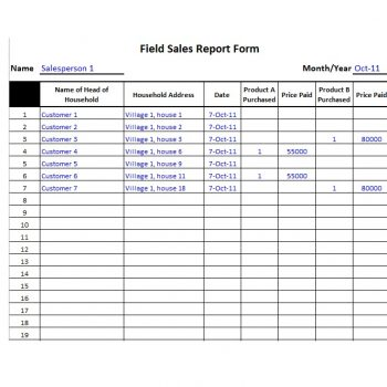 10 Free Daily Sales Report Templates Word Excel Templates